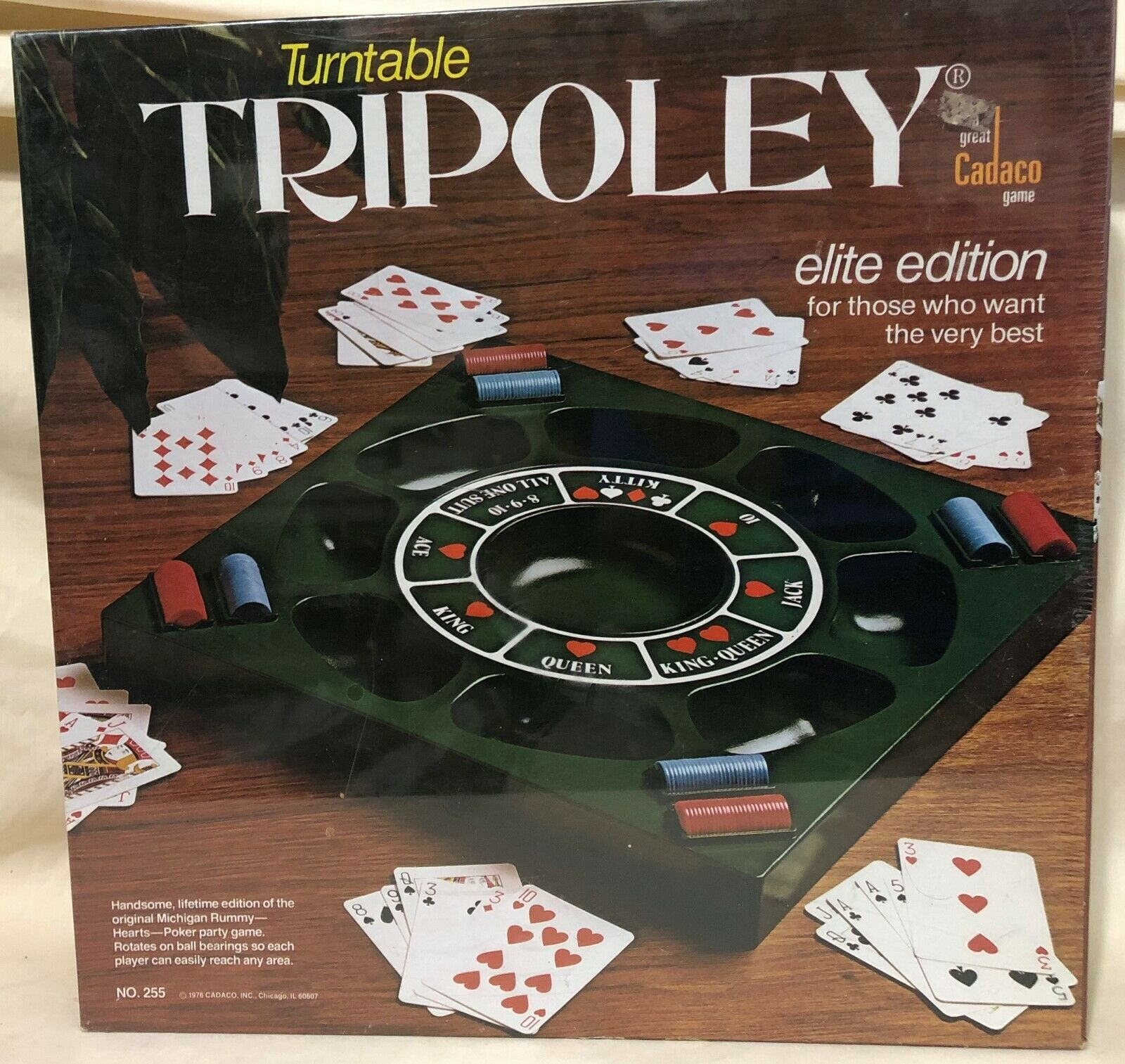 Turntable Tripoley by Cadaco 1976 Edition - Brand New   Factory Sealed 255