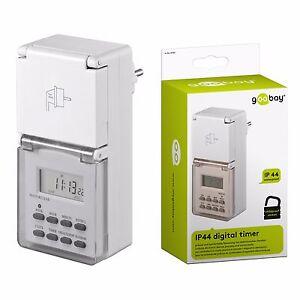 digitale zeitschaltuhr f r au en ip44 garten outdoor kinderschutz 3600 watt ebay. Black Bedroom Furniture Sets. Home Design Ideas