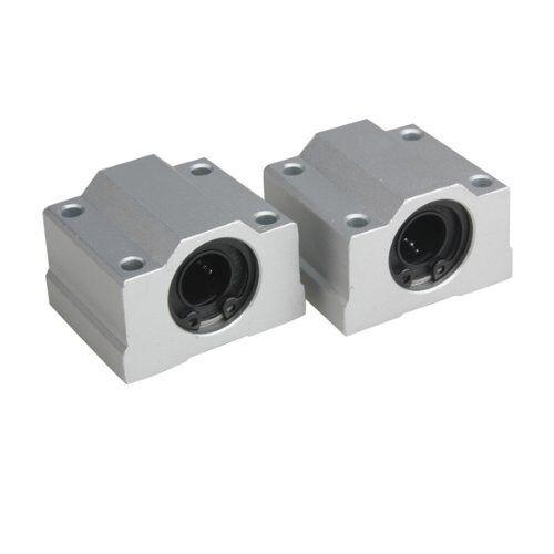 2Pcs 12mm SC12UU Linear Motion Ball Bearing Slider Slide Bushing Replacement CNC