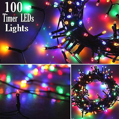 50//100//200//600 Battery Operated LED String Xmas Lights With Timer Indoor//Outdoor