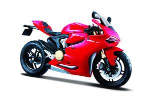 Ducati-1199-Panigale-rot-Massstab-1-12-Motorrad-Modell-von-maisto