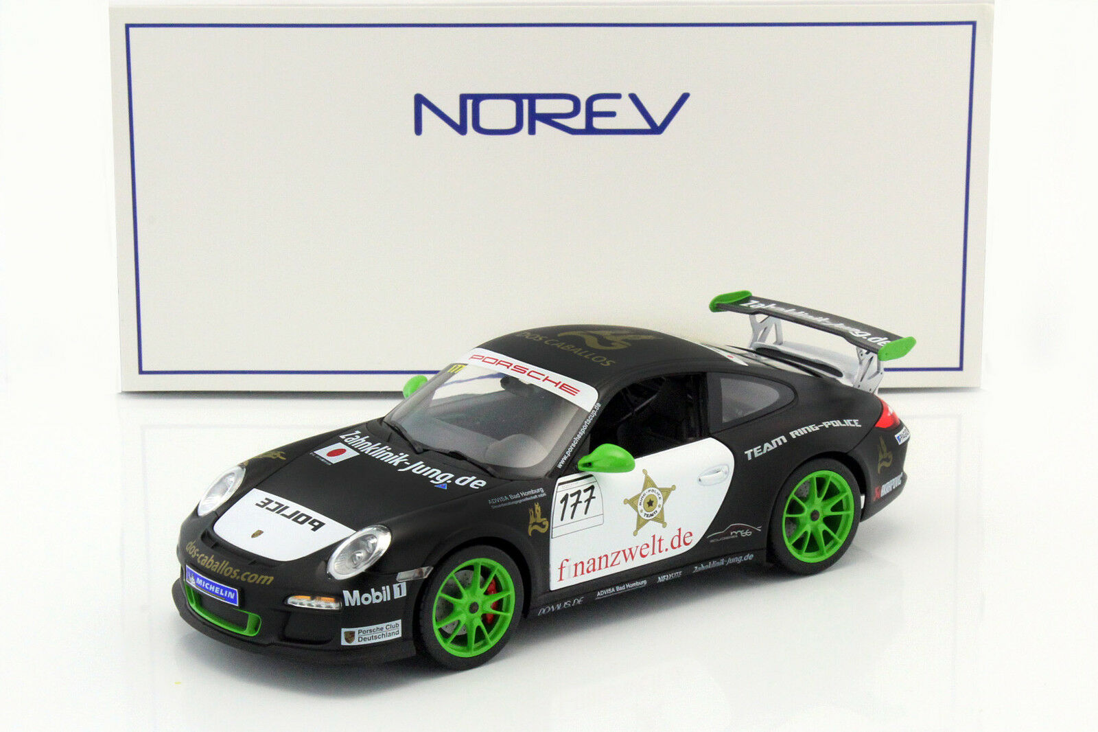 Porsche 911 gt3 rs  177 équipe équipe équipe Bague police Sportscup 2011 1 18 Norev 09ef58