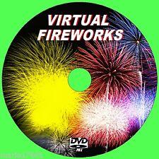 VIRTUAL FIREWORK DISPAY VIDEO & SOUND DVD FOR FLATSCREEN LCD LED PLASMATV NEW