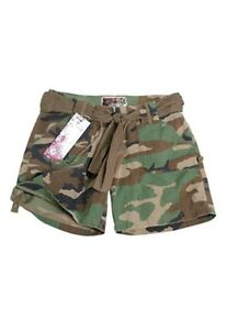 US Army Shorts Women Ladies 3-color Woodland Size L Ripstop Hot Pants Style
