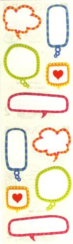Conversation Bubbles Grossman/'s Stickers Chubby Talk 4 Strips Mrs