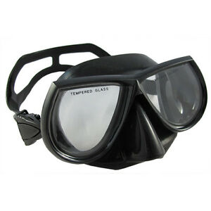 Scuba-Diving-Spearfishing-Free-Dive-Low-Volume-Black-Silicone-Mask