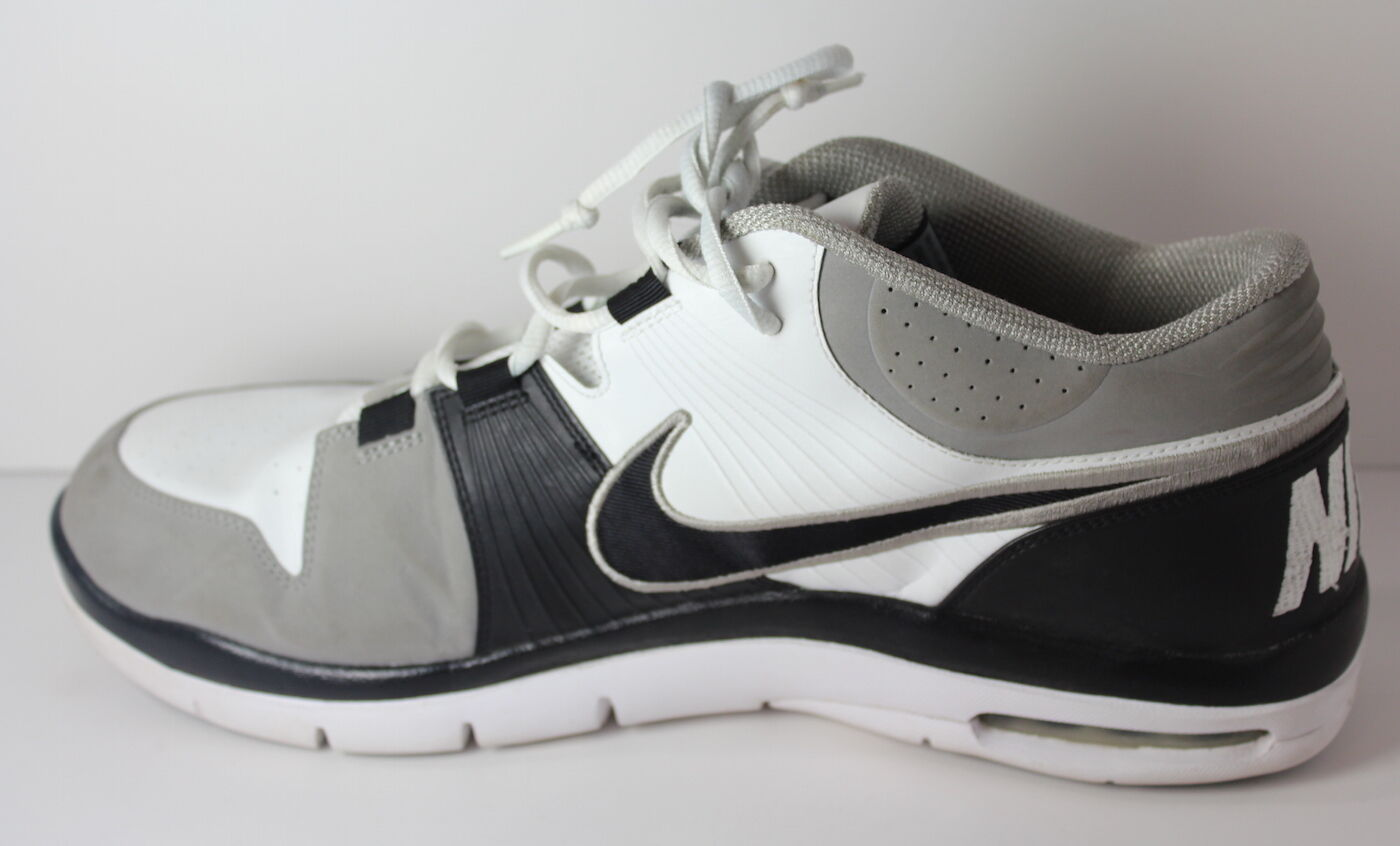 outlet store 24a70 5c04e ... Nike Trainer 1 2009 Men s Size 14 14 14 Grey White Black Shoes ae0046  ...