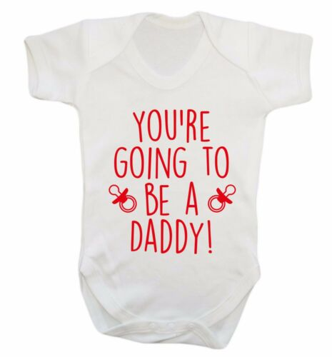 baby vest baby reveal announcement newborn new dad 168 Your going to be a daddy