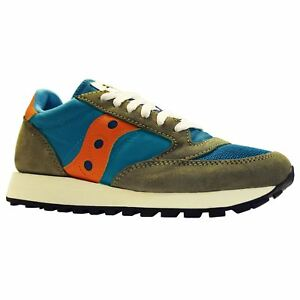 Saucony Jazz Original Vintage S7036814 Tea Olive Mens Suede Running Trainers