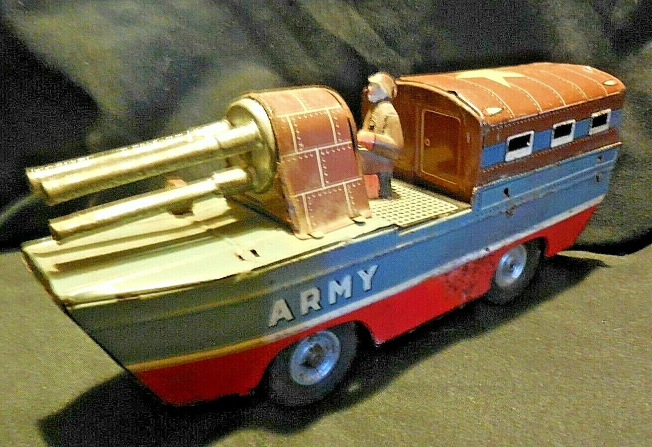 E6- Tin Litho 1950's Army Duck Boat