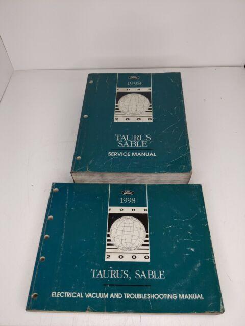 1998 Ford Taurus Sable Repair Shop Shop Service Manual