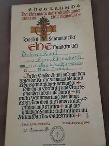Urkunde-Ehe-das-heilige-Sakrament-der-Ehe-v-1944-Zeitgeschichte-schoen-gestaltet