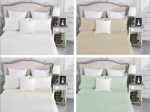 1500TC-CVC-Cotton-Fitted-Sheet-Pillow-Case-s-Set-No-Flat-Sheet-Easy-Care