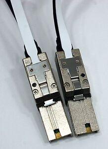 Lot of two 3 meter Mini SAS Madison cable SFF-8088 SAS SFF-8088 EMC 038-003-960