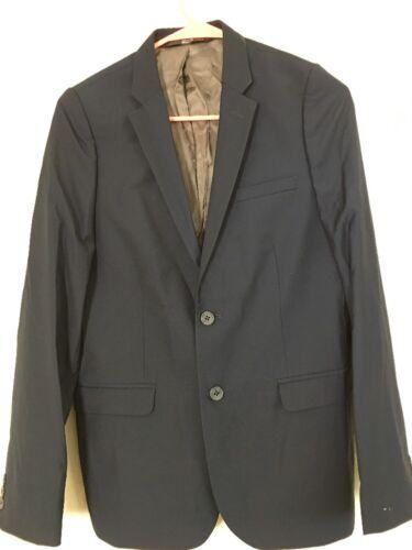 Boys Kids NORDSTROM Elliott Navy Blue Lined Sport Coat Jacket Blazer 2201