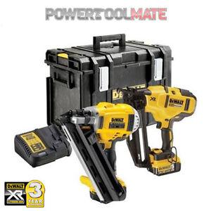 DeWalt-DCK264P2-18v-XR-Li-Ion-Cordless-Brushless-Nailer-Pack-2x-5-0Ah-Batteries