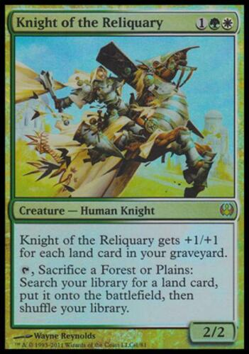 Knight of the Reliquary Near Mint Foil English Duel Decks Knights vs Dragons