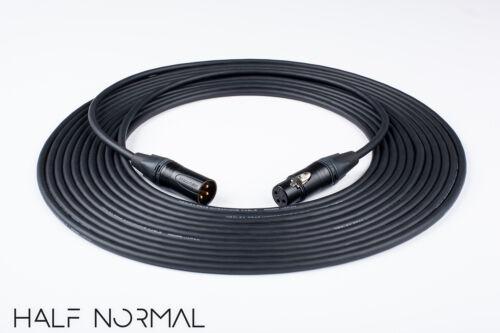 30/' Mogami 2549 Standard Balanced Neutrik Gold XLR Male to XLR Female Black