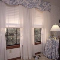 Home Decor Pleated White Fabric Window Blind Shade Curtain Hang Rv Camper 48x72