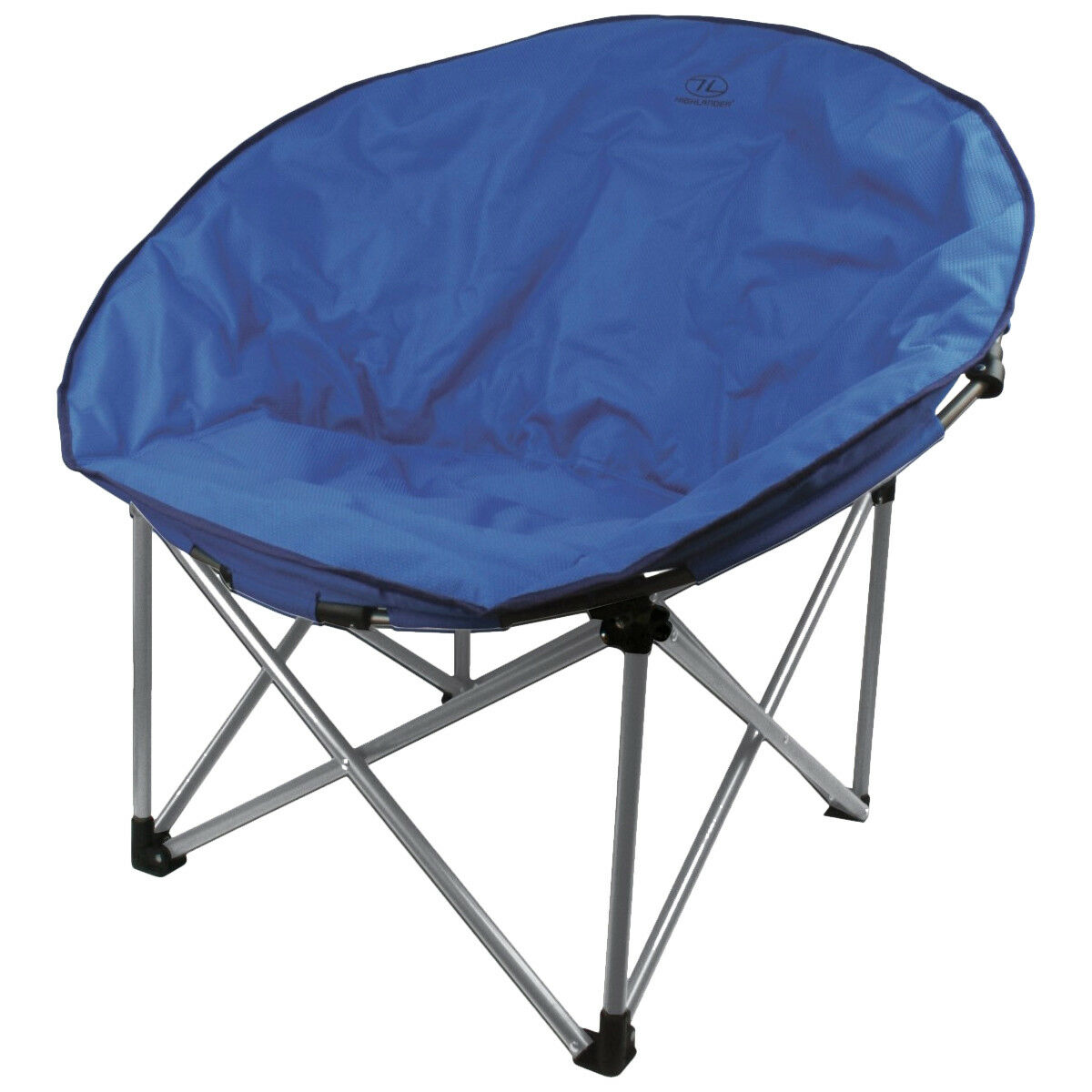 Highlander Deluxe Moon Chair Foldable BBQ Picnic Holiday Beach Camping bluee