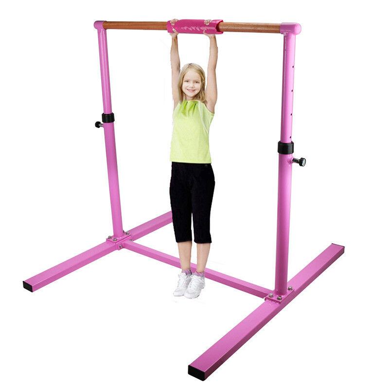 High Bar Training Gymnastics Practice Hardwood Home Ballet Barre Equipment Pink