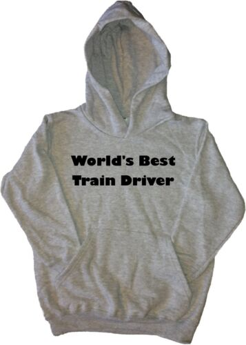 World/'s Best Train Driver Kids Hoodie Sweatshirt
