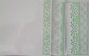 peach inserts-app 8x8in pk//Acid Free//Own//White Decorative Edge Blank cards