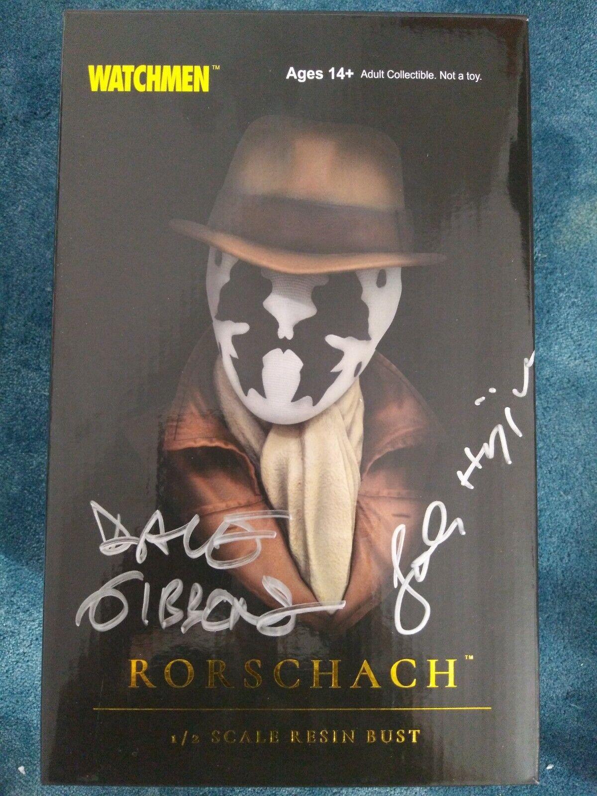 Watchmen Rorschach 1 2 escala Busto Exclusivo Dave Gibbons FIRMADA + CERTIFICADO DE AUTENTICIDAD  sólo un
