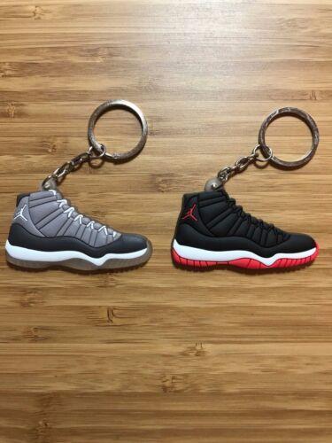Jordan XI 11 Cool Grey /& Jordan XI Playoffs Sneaker Shoe Kicks Keychain