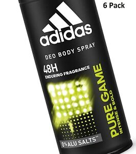 Details about 6 x Adidas 48H Deodorant Mens Spray 150ml Pure Game