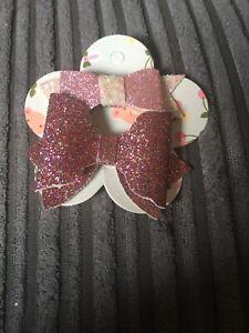 100% De Qualité Handmade Hair Bow Sur Clip De Jolies Filles Design Sparkle Pink Glitter éLéGant En Odeur