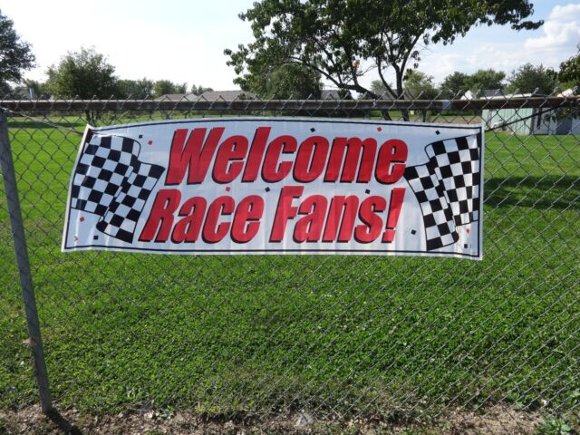 Welcome Race Fans Party Banner Race Car IndyCar Indy 500 Nascar USAC F-1