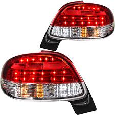 LED Rückleuchten Heck Set rot weiß chrom Peugeot 206 Bj. 98-10