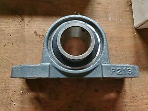 "2 PIECES UCP206-18 Solid Base P206 1-1//8/"" Pillow Block Bearing"