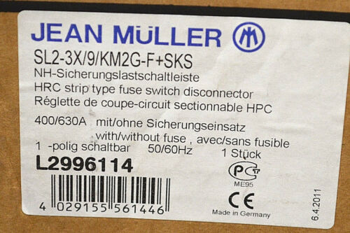 F+SKS Sicherungslastschaltleiste L2996114 NEU OVP data-mtsrclang=en-US href=# onclick=return false; show original title Details about  /Jean Muller sl2-3x//9//km2g-f+sks fused circuit Bar l2996114 NEW OVP