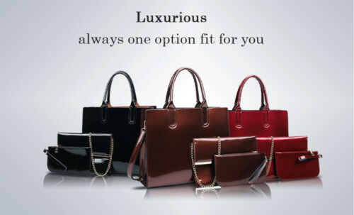 en W E N luxe verni set Femme à de Marque 3pcs cuir Sac main TPwx5Swq
