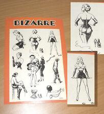 BIZARRE Postkarte John Willie Erotik Fetisch BDSM Bondage Domina Rubber Korsett