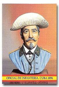 MD 006 OFICIAL INFANTERIA CUBA 1898 EJERCITO ESPAÑA LEAD SOLDIER 6 CM HIGH
