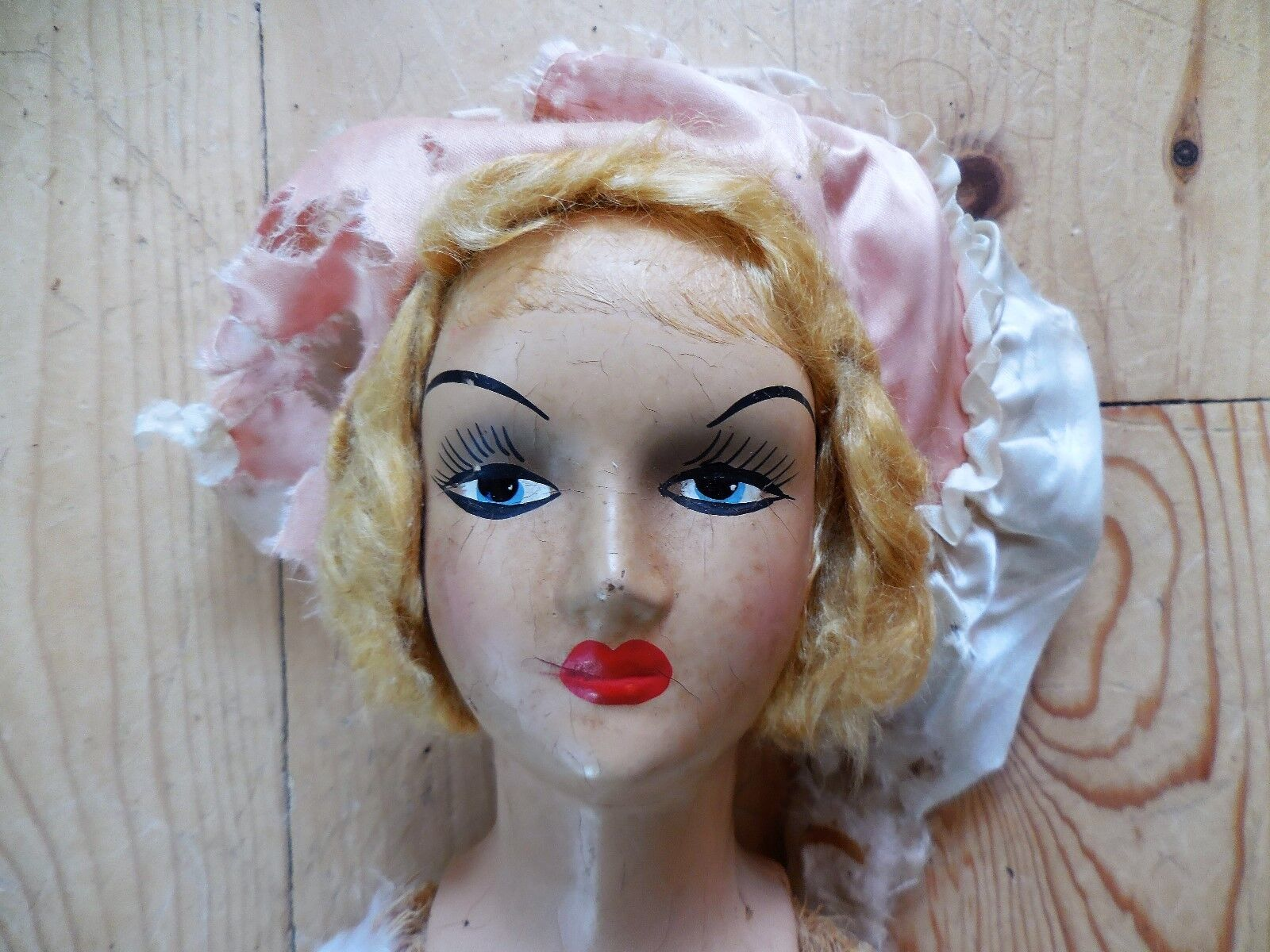 VINTAGE ANTIQUE FRENCH BED BOUDOIR DOLL FREE SHIPPING