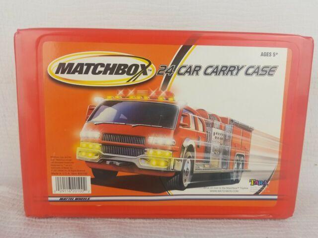 Tara Toy Corp Vintage 24 Orange Die Cast Car Case for Matchbox Hot Wheels 2001