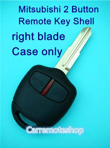 Mitsubishi Lancer EVO CT9A VII VIII IX 2 Button Remote key shell case with blade
