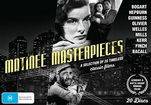 1 of 1 - MATINEE MASTERPIECES (INC: THE AFRICAN QUEEN/BRIEF ENCOUNTER/A TOWN LIKE