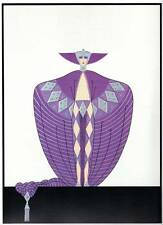 "ORIGINALE VINTAGE Erte Art Deco Print ""la sompteuse"" FASHION BOOK Piastra"
