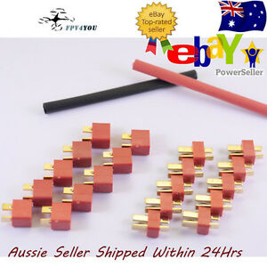 10x-Pairs-Deans-ultra-t-style-plugs-Heat-Shrink-Lipo-Connector-Connectors-Sets