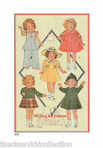 """18"""" Pattern for Shirley Temple Doll #418"""