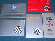 1987 VOLKSWAGEN FOX OWNER'S MANUAL SET / ORIGINAL GUIDE BOOK SET