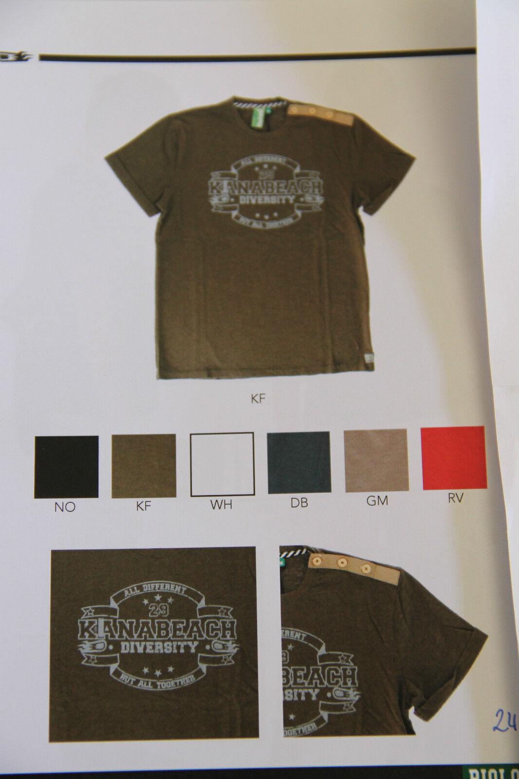 T-shirt KANABEACH BIOLOGIK asfalto-jy Taglia M NUOVO CON ETICHETTA valore valore valore 4c1a09