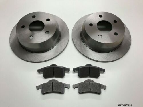 2 x Rear Brake Disc /& Brake Pads Jeep Grand Cherokee WJ 1999-2004 BRK//WJ//023A