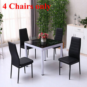 Set Of 4 Modern Faux Leather Dining Chairs Dining Room Chair Home Furniture Uk Ebay