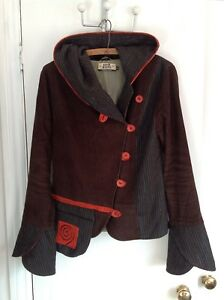 8 Wishes Seven Brown 10 Camden Wool Jacket Orange Small Cord Blue Hooded 0adxar